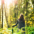 Girl on Forest — Stock Photo