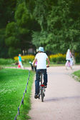Teenager on Bicycle — Stock Photo