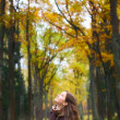 Girl on Forest - Foto de Stock