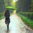 Girl under Rain — Stock Photo #8401744