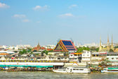 Wat Pho on Chao Phraya — Stock Photo