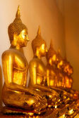 Buddhas in Wat Po — Stock Photo