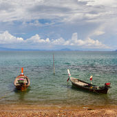 Thai Long Boats — Stock Photo