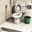 Dirty Toilet — Stock Photo