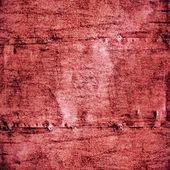 Kov maloval rudé zdi textury — Stock fotografie
