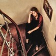 Beautiful Lady on Stairway — Stock Photo #9817179