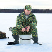 Ice Fishing — Stockfoto