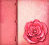Card with illustration of pink rose — Stock Photo