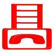 3D Fax machine icon — Stock Photo
