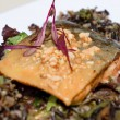 Stock Photo: Seared Artctic char with peanut and cashew crumbles