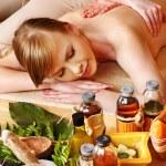 Massage in beauty spa. — Stock Photo