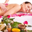 Woman getting massage in spa. — Stock Photo #10518819