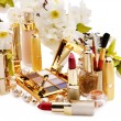 Decorative cosmetics and flower. — Stock Photo #10519368