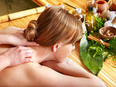 Woman getting aroma massage. — Stock Photo