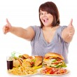 Woman eating fast food. — Stock Photo #10526766