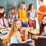 Group student near blackboard. — Stock Photo #10527564