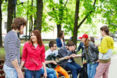 Group of outdoor. — Stock Photo