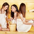 Friend relaxing in sauna. — Stock Photo #10541057