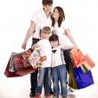Happy family and children shopping. — Stock Photo #8628625