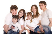 Happy family with children. Group — Stock Photo