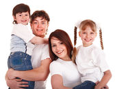 Happy family mother, father and children. — Stock Photo