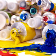 Close up of art supplies. — Foto de Stock