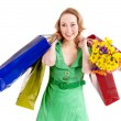 Young woman with shopping bag. — Stock Photo