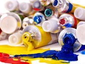 Close up of art supplies. — Stock Photo