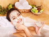 Natural homemade facial masks . — Stock Photo