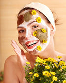 Natural homemade clay facial masks . — Foto Stock