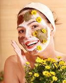Natural homemade clay facial masks . — Stock fotografie