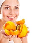 Natural homemade fruit facial mask . — Stock Photo
