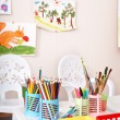 Colorful pencil in art class. — Stock Photo #8650035