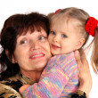 Stock Photo: Portrait of grandmother and granddaughter.