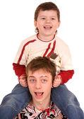 Felice padre e figlio piccolo. — Foto Stock