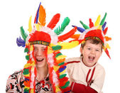 Two brother in indian costume. — Stock Photo