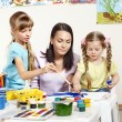Child painting in preschool. — Stock Photo #8664838