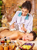 Woman getting massage in spa. — Stock Photo