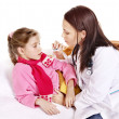 Doctor take  child temperature - Foto Stock