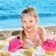 Child playing on beach. — Stock Photo #9068678