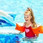 Child on water slide at aquapark. — Stock Photo #9068703