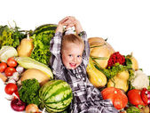 Child with vegetable . — Stock Photo