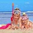 Children playing on beach. — Stock Photo #9073157