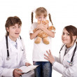 Group of doctor treat child. Medicine. — Stock Photo #9076025