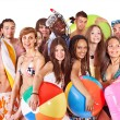 Group holding beach accessories. — Stock Photo #9077456