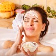 Natural homemade facial masks . — Stock Photo #9078329