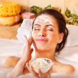 Stock Photo: Natural homemade facial masks .
