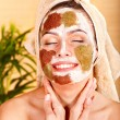 Natural homemade clay  facial masks . - Stock Photo