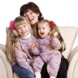 Happy grandmother and two granddaughter. — Stock Photo #9079000