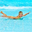 Child in swimming pool. — Stock Photo